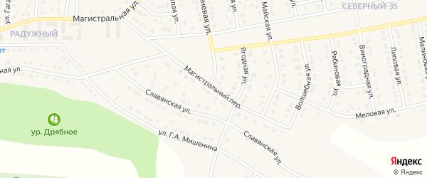 Магистральный переулок на карте Северного поселка с номерами домов