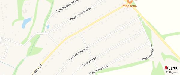 Губкинская улица на карте Никольского села с номерами домов