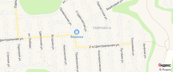 Студенческая улица на карте Таврово 4-й микрорайона с номерами домов