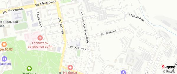 Улица Павлова на карте Белгорода с номерами домов