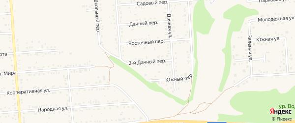 Дачный 2-й переулок на карте Таврово 2-й микрорайона с номерами домов