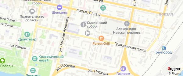 Гражданский проспект на карте Белгорода с номерами домов