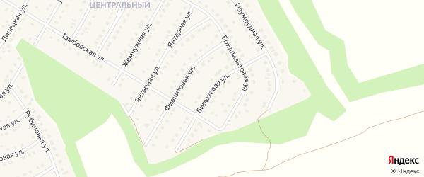 Бирюзовая улица на карте Никольского села с номерами домов