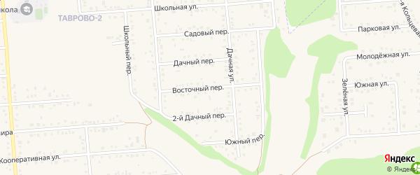 Восточный переулок на карте Таврово 2-й микрорайона с номерами домов