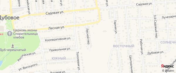 Лесной переулок на карте поселка Дубового с номерами домов