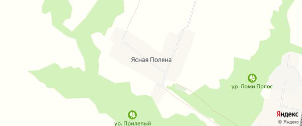 Карта хутора Ясная Поляна (Вязовское с/п) в Белгородской области с улицами и номерами домов