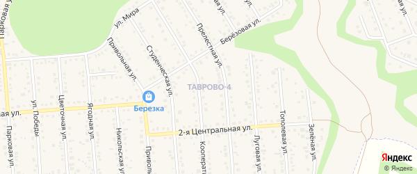 Шоссейный переулок на карте Таврово 4-й микрорайона с номерами домов