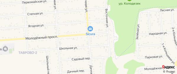 Дачная улица на карте Таврово 2-й микрорайона с номерами домов