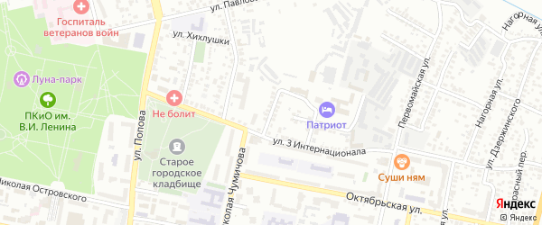 Карьерный 1-й переулок на карте Белгорода с номерами домов