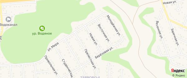 Новая улица на карте Таврово 4-й микрорайона с номерами домов