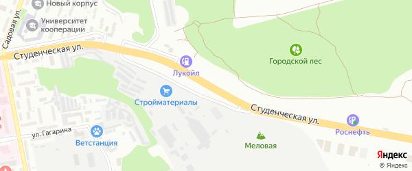 Студенческая улица на карте Белгорода с номерами домов