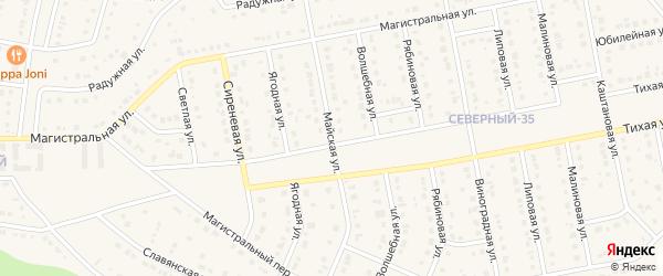 Майская улица на карте Беломестного села с номерами домов