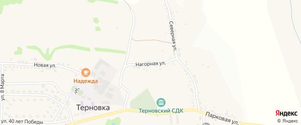 Нагорная улица на карте села Терновки с номерами домов