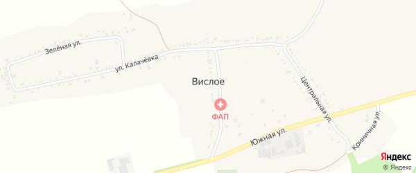 Кирпичная улица на карте Вислого села с номерами домов