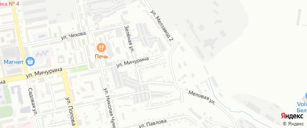Зеленый 1-й переулок на карте Белгорода с номерами домов