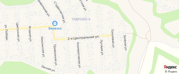 Центральная 2-я улица на карте Таврово 4-й микрорайона с номерами домов