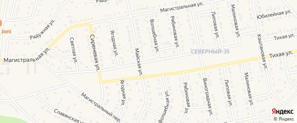 Магистральный 1-й переулок на карте Северного поселка с номерами домов