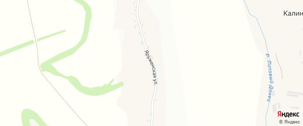 Яруженская улица на карте села Терновки с номерами домов