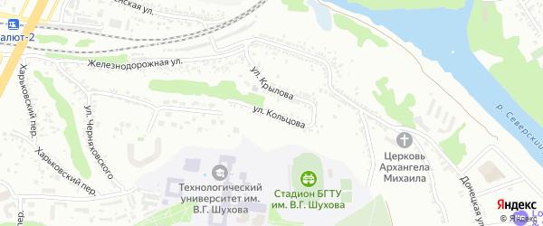Улица Кольцова на карте Белгорода с номерами домов