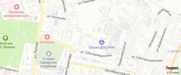 Карьерный 2-й переулок на карте Белгорода с номерами домов
