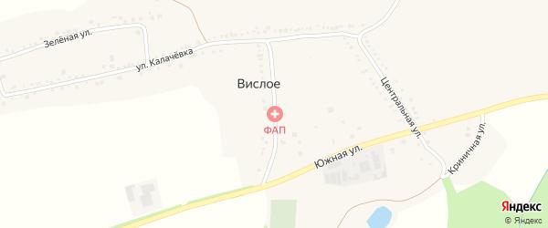Школьная улица на карте Вислого села с номерами домов