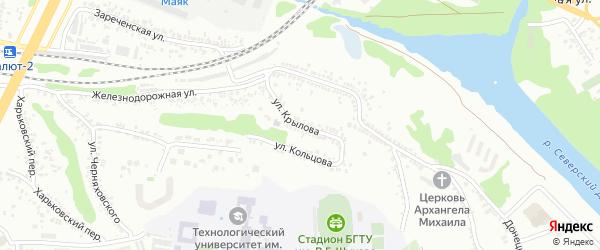Улица Крылова на карте Белгорода с номерами домов
