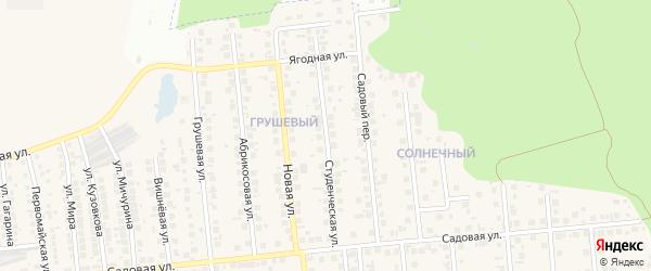 Студенческая улица на карте поселка Дубового с номерами домов