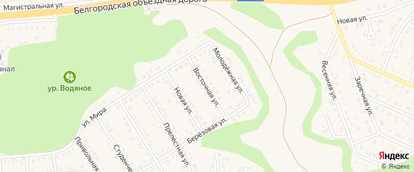 Восточная улица на карте Таврово 4-й микрорайона с номерами домов