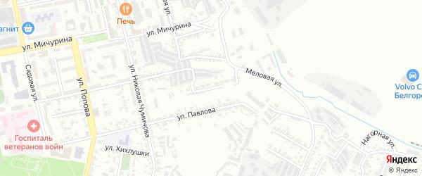 Переулок Павлова на карте Белгорода с номерами домов