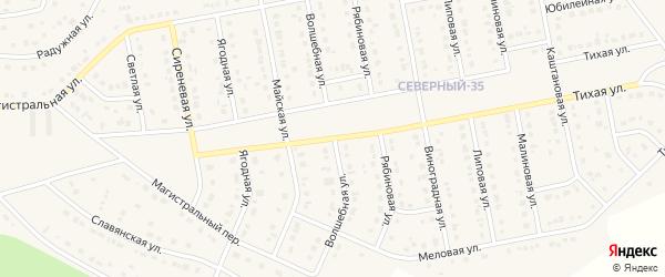 Волшебная улица на карте Северного поселка с номерами домов