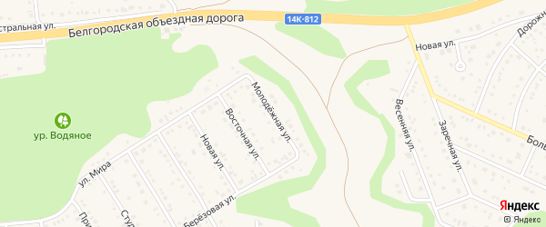 Молодежная улица на карте Таврово 4-й микрорайона с номерами домов