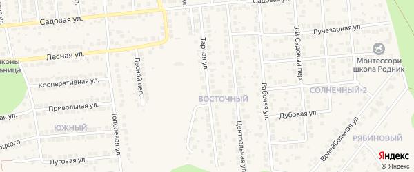 Тарная улица на карте поселка Дубового с номерами домов