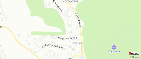 Сургутская улица на карте Белгорода с номерами домов