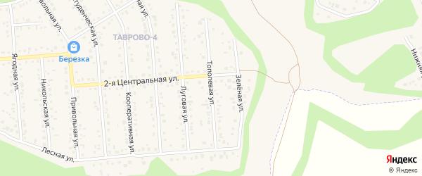 Тополевая улица на карте Таврово 4-й микрорайона с номерами домов