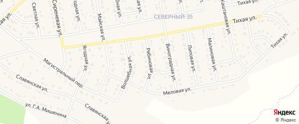 Меловая улица на карте Северного поселка с номерами домов
