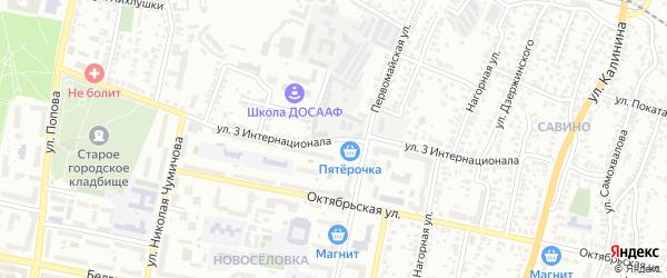 Улица 3 Интернационала на карте Белгорода с номерами домов