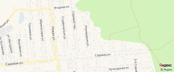 Садовый 2-й переулок на карте поселка Дубового с номерами домов