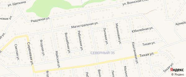 Виноградная улица на карте Северного поселка с номерами домов