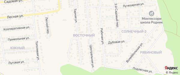 Центральная улица на карте поселка Дубового с номерами домов