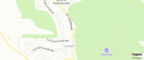 Улица Газовиков на карте Белгорода с номерами домов