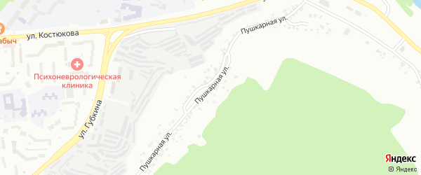 Пушкарная улица на карте Белгорода с номерами домов