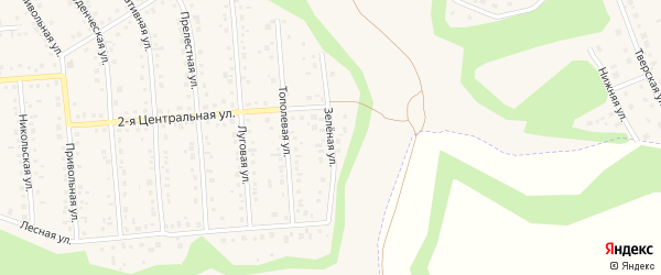 Зеленая улица на карте Таврово 4-й микрорайона с номерами домов