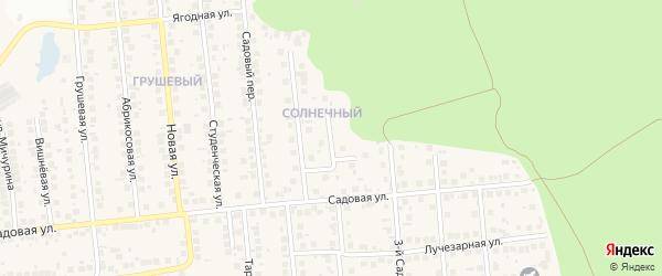 Изумрудная улица на карте поселка Дубового с номерами домов