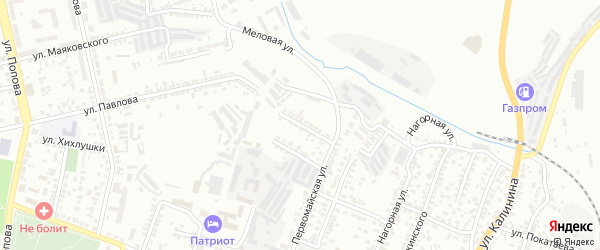Первомайский 2-й переулок на карте Белгорода с номерами домов