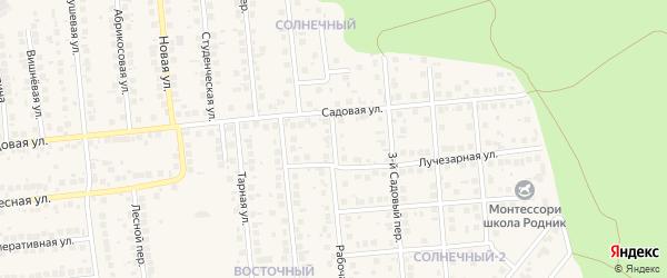 Радужная улица на карте поселка Дубового с номерами домов