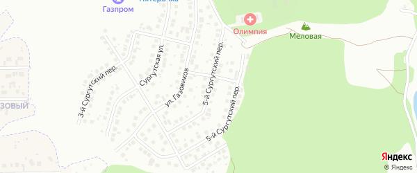 Сургутский 5-й переулок на карте Белгорода с номерами домов