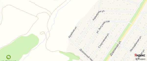 Крайняя улица на карте Беломестного села с номерами домов