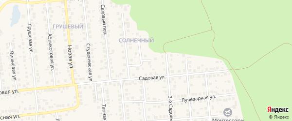 Радужный переулок на карте поселка Дубового с номерами домов
