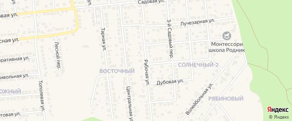 Рабочая улица на карте поселка Дубового с номерами домов