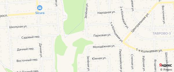 Зеленая улица на карте Таврово 3-й микрорайона с номерами домов